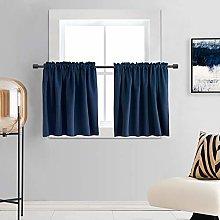DONREN Navy Blue Blackout Curtain Panels for Small