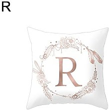 dontdo Flower Floral English Letter Throw Pillow