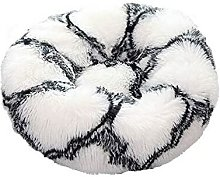 Donut Cat Bed, Pet Round Soothing Plush Cushion,