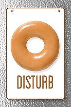 Donut Disturb Sign Cool Wall Decor Art Print