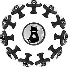 Dony White Cat Paw Black Shadow Handle Pull,