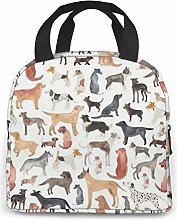 Doodlebackground Lunch Cooler Bag, Small Insulated