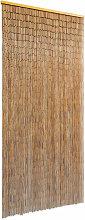 Door Curtain Bamboo 90x200 cm - Brown - Vidaxl
