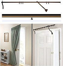 Door Curtain Pole - Bronze Rising Portiere Rod 42