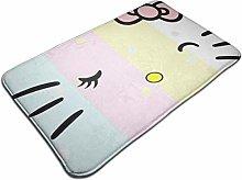 Door Doormat Light Colors Hello Kitty Face