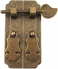Door Handle Antique Pure Copper Straight Bar