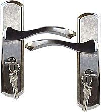 Door Handle Door Lock with 3PCS Keys Stainless