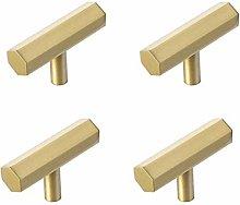 Door Handle Kit Decoration Brass Hexagon Cabinet