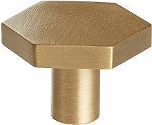 Door Handle Kit Decoration Hexagonal Brass Kitchen