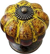 Door Handle Retro Round Pumpkin Shape Ceramic