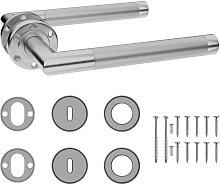 Door Handle Set with BB Deadlock Stainless Steel