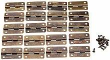 Door Hinge 20Pcs Antique Bronze Cabinet Hinges for