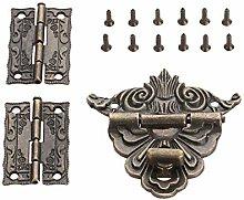 Door Hinge 2Pcs Antique Bronze Cabinet Hinges with