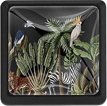 Door Knobs Jungle Animals Zebra Tiger Pattern 3