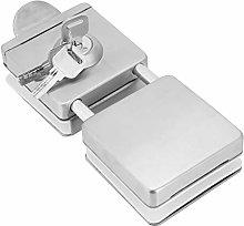Door Lock, Glass Door Lock, with Key, Double Door