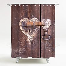 Door Lock Shower Curtain Sanilo
