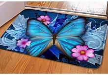 Door mat 3D printing area matFloral Leaves Hello