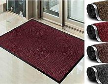 Door mat for Indoor & Outdoor,80x120cm Red Non