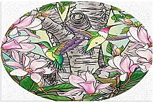 Door Mat Front Indoor Outdoor Doormat,Hummingbird