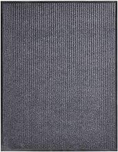 Door Mat Grey 160x220 cm PVC - Grey