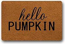 Door Mat Hello Pumpkin Doormat Inside/Outside