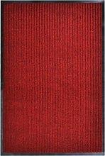 Door Mat Red 160x220 cm PVC - Red - Vidaxl