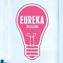 Door Room Wall Sticker Happy Larry Colour: Pink