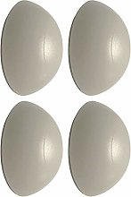 Door Stop Bumpers White Rubber Wall Mounted Guard