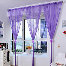 Door String Curtain Shiny Tassel Flash Silver Line
