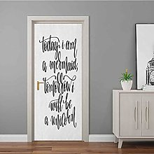 Door Wallpaper Being Cool with Who You Are Happy