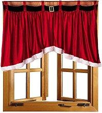 Door Window Drape Panel Christmas Curtain
