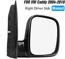 Door Wing Mirror Manual Black Left Right Side O/S