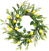 Door Wreath Hanging Garland Artificial Fruit Green