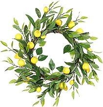 Door Wreath Hanging Garland Artificial Fruit Green
