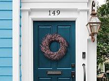 Door Wreath Pink Handmade Decorative Artificial