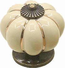 Doorknobs 2Pcs 40Mm Ceramic Pumpkin Handle Retro