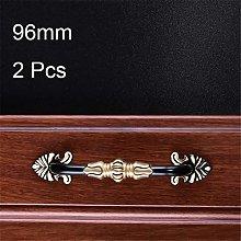 Doorknobs 2PCS 96MM 128MM Door Handle Pure Copper