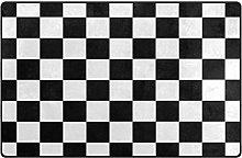 Doormats Custom Checkered Non-Slip Area Rug Pad