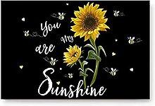 Doormats Entrace Door Rug,Sunflower You are My