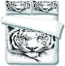 DOPGAY Duvet Cover Sets Double Bed Animal White