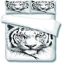 DOPGAY Duvet Cover Sets King Bed Animal White