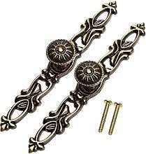 Dophee 2Pcs Retro Brass Bronze Door Knobs Drawer