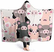 Dor675ser Hoodie Blanket 52 x 60 Inch, Cute Baby