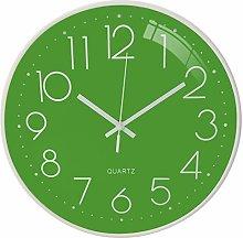 DORBOKER Green Kitchen clocks, 12 inch Wall Clock
