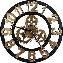 DORBOKER Premium Wall Clock - Large 3D Retro