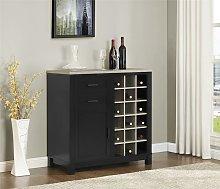 Dorel Home Carver Bar Drinks Cabinet Sideboard