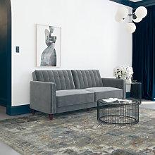 Dorel Pin Tufted Transitional Sofa Bed Vintage