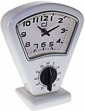 DOREX Clock, Metal, White, One Size