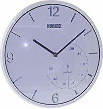 Dorex Clock, PVC, White, One Size