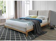 Dorian Upholstered Bed Frame Hykkon